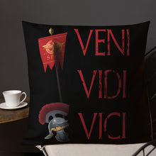 Load image into Gallery viewer, Gaius Julius Caesar Veni Vidi Vici Premium Pillow