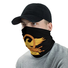 Load image into Gallery viewer, Anti Barbarian Black SPQR Roman Eagle Neck Gaiter