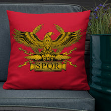 Load image into Gallery viewer, SPQR Roman Aquila Premium Pillow