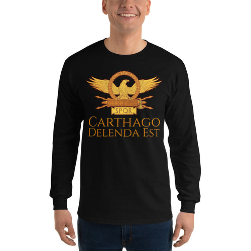 Carthago Delenda Est - Ancient Rome Men's Long Sleeve Shirt