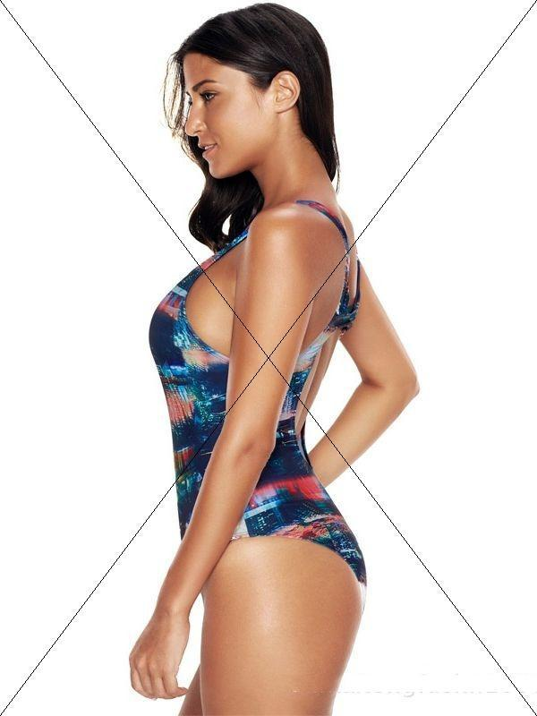 Women Sexy Plus Size Printed One Piece Swimsuit