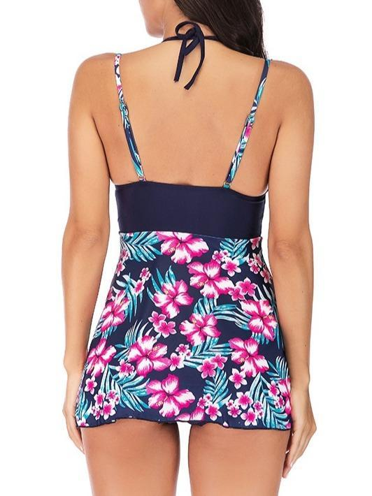 Women's Floral Printed Tankini Sets Swimwear Swimsuit Bathing Suit