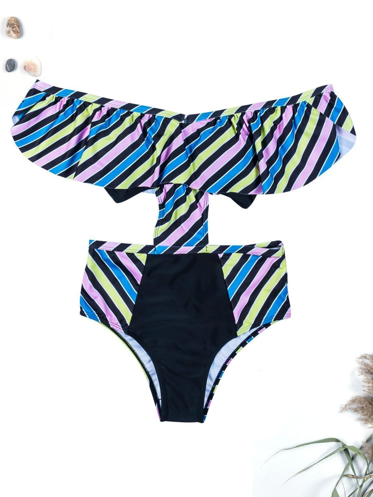Women Sexy Print Sling Swimwear One Piece