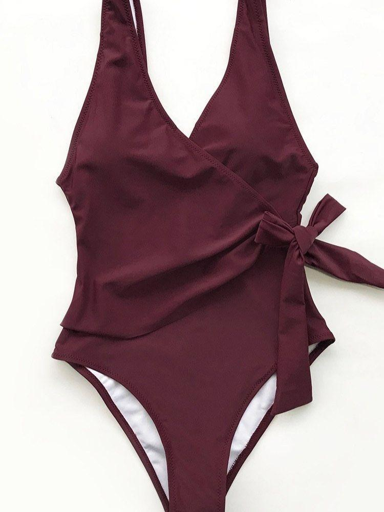 Women Sexy Sling One Piece Swimwear