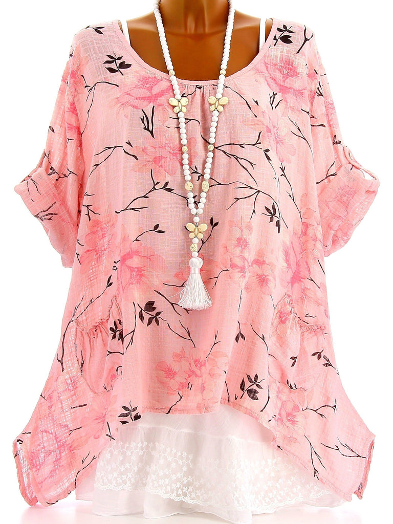 Women High Quality Loose Long Sleeve Printed Blouse Tops