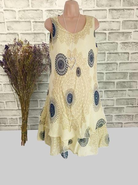 Floral Printed Sleeveless Printed Dresses S - XXXXXL 11 Colors