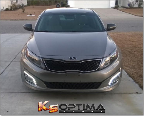 2014-2015 Kia Optima Daytime Running Lights W/ Optional Turn Signal LEDs