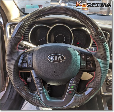 2011-2020 Kia Optima Carbon Fiber Steering Wheel