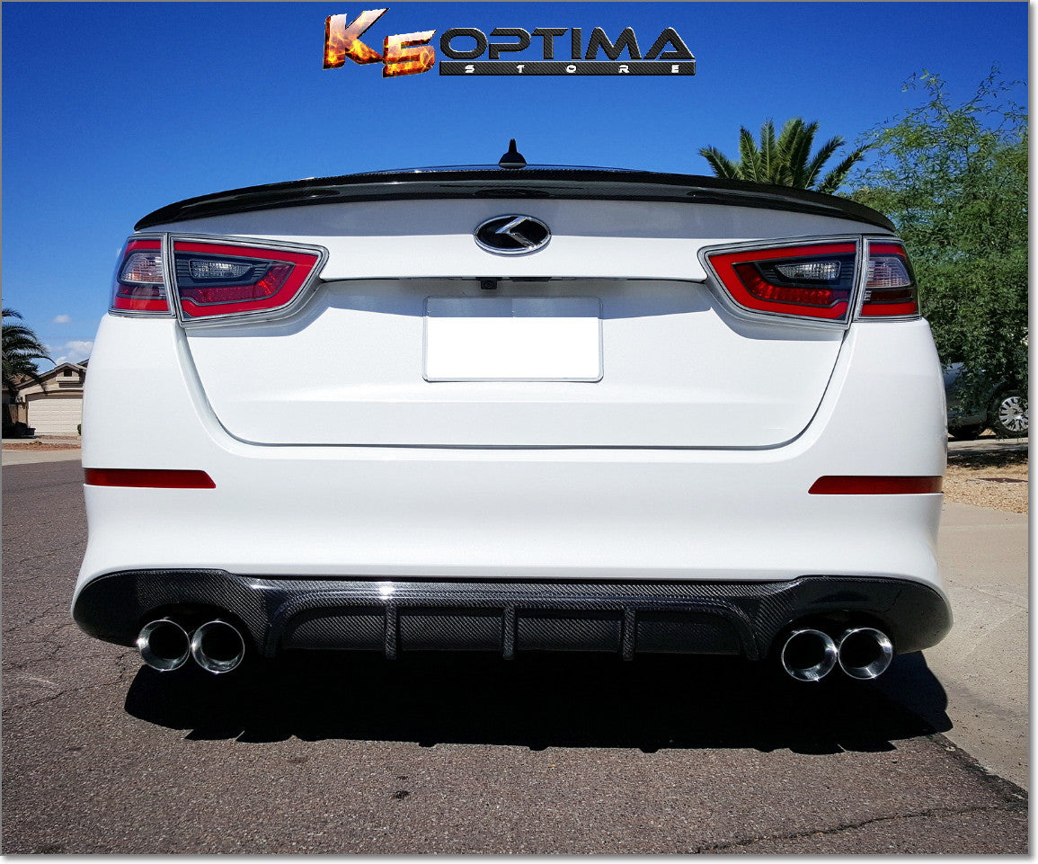 2015 kia optima carbon fiber diffuser