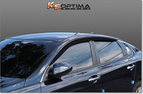 2016-2020 Kia Optima Dark Tint Window Visors