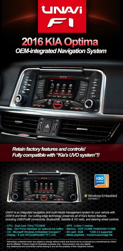 UNAVI X5 (OEM Integrated Navigation System) on