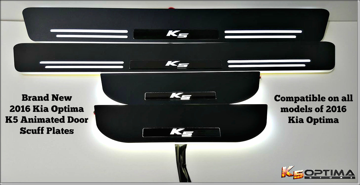 2016-2019 Kia Optima Sequential LED Door Scuff Plates