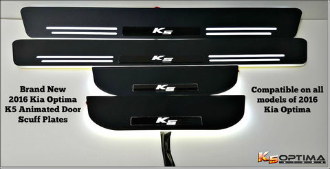 2016-2017 Kia Optima Sequential LED Door Scuff Plates