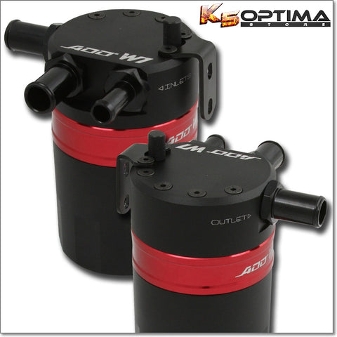 (NEW) ADD W1 V3.3 Baffled - Dual Inlet Oil Catch Can