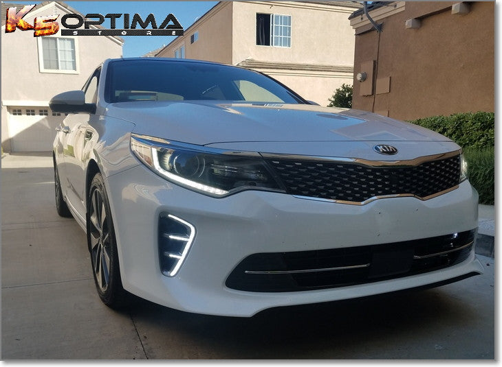 Kia Optima 2017 White >> K5 Optima Store - 2016-2018 Kia Optima LED DRL Air Vent Kit