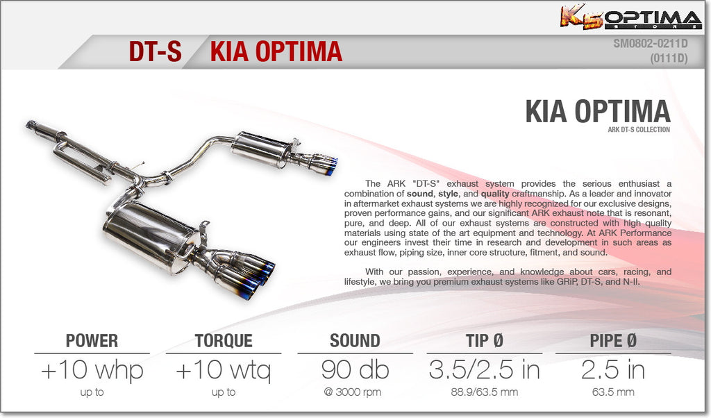 K5 Optima Store - 2011-2015 Kia Optima DT-S Exhaust system from ...