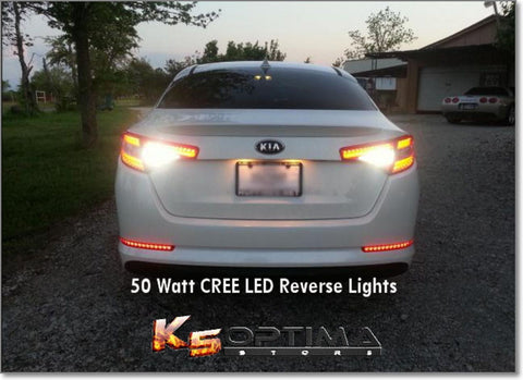 50 Watt CREE LED (194 & 1156) Reverse Lights