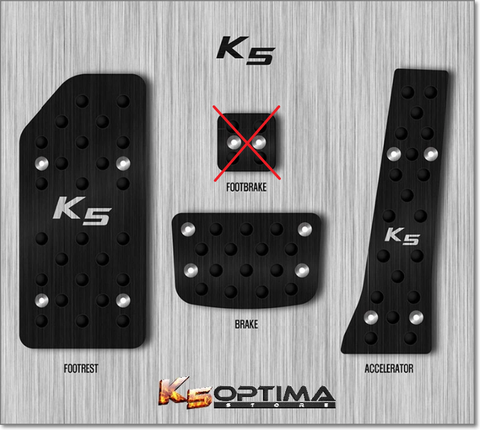 Custom Black Sport Foot Pedal Sets