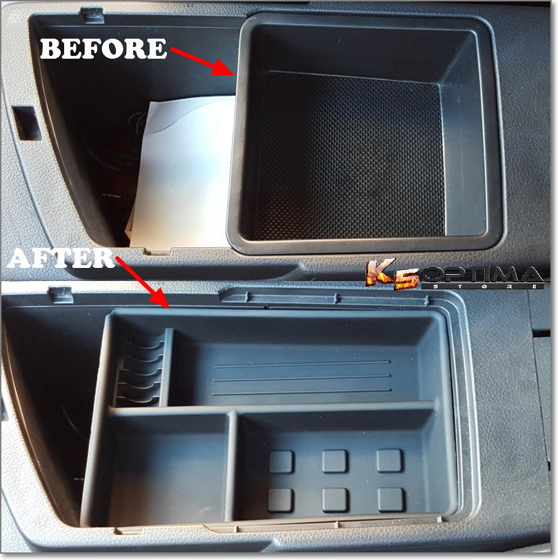 Kia optima center console tray insert
