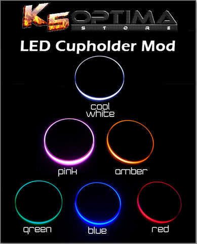 Kia & Hyundai LED Cupholder Lights