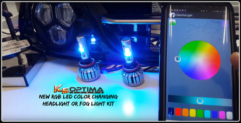 K5 Optima Store - RGB LED Color Changing Headlight or Fog Light Kit