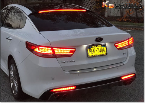 (NEW) 2016 Kia Optima Rear Sequential Bumper LED Lights