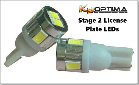 License Plate Stage 1 & 2 LED Bulb Sets 194/T10