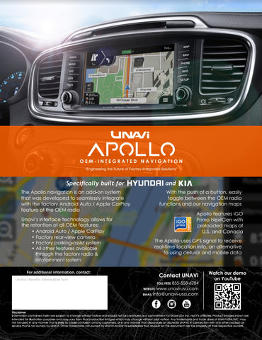 UNAVI X5 (OEM Integrated Navigation System)