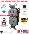 1080P WIFI IP HIDDEN SPY CAMERA STANDARD FACE AC WALL RECEPTACLE-SPYMODS