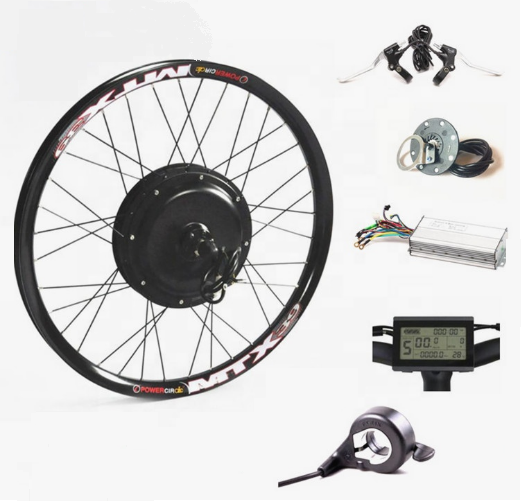 Electric EBIKE 48-72V 3000W-5000W Gear-less Hub Motor Conversion KIT-SPYMODS