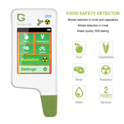 5 IN 1 Food Water Fruit Vegetable Sensitivity Nitrate Tester Radiation Detection-SPYMODS