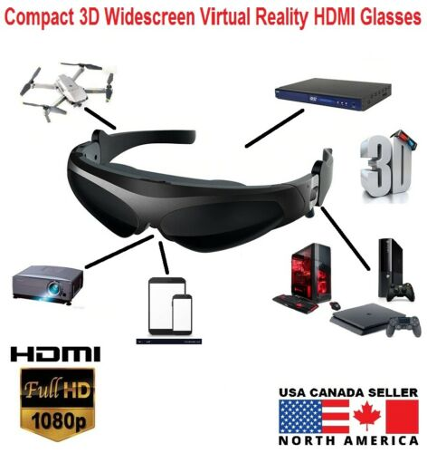 Compact 3D Widescreen FPV Video VR HDMI Glasses-SPYMODS