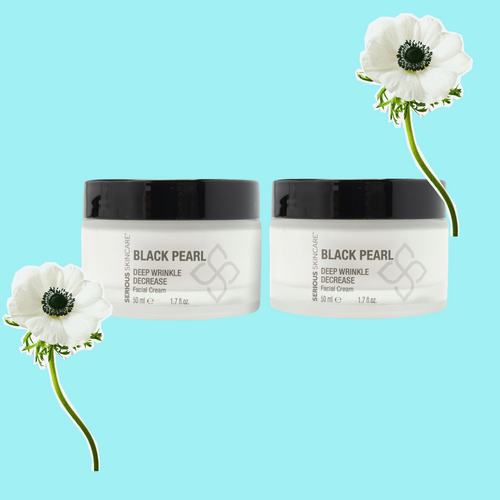 Black Pearl Deep Wrinkle Decrease Facial Cream 1.7oz DUO