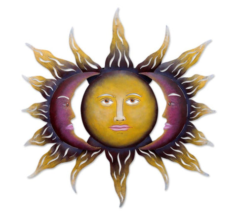 Steel wall art, 'Beloved Sun'