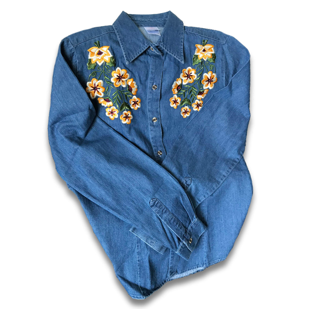 Kanxoc Button Up Denim Shirt