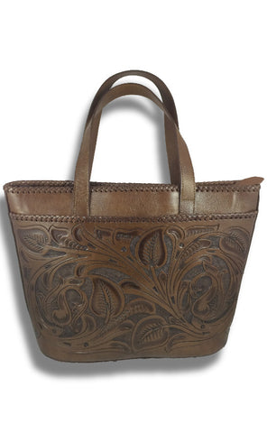 """Chichen-Itza"" Leather Tote Bag"