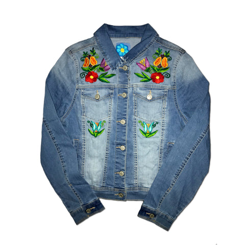 Kanxoc Mayan Garden Denim Jacket