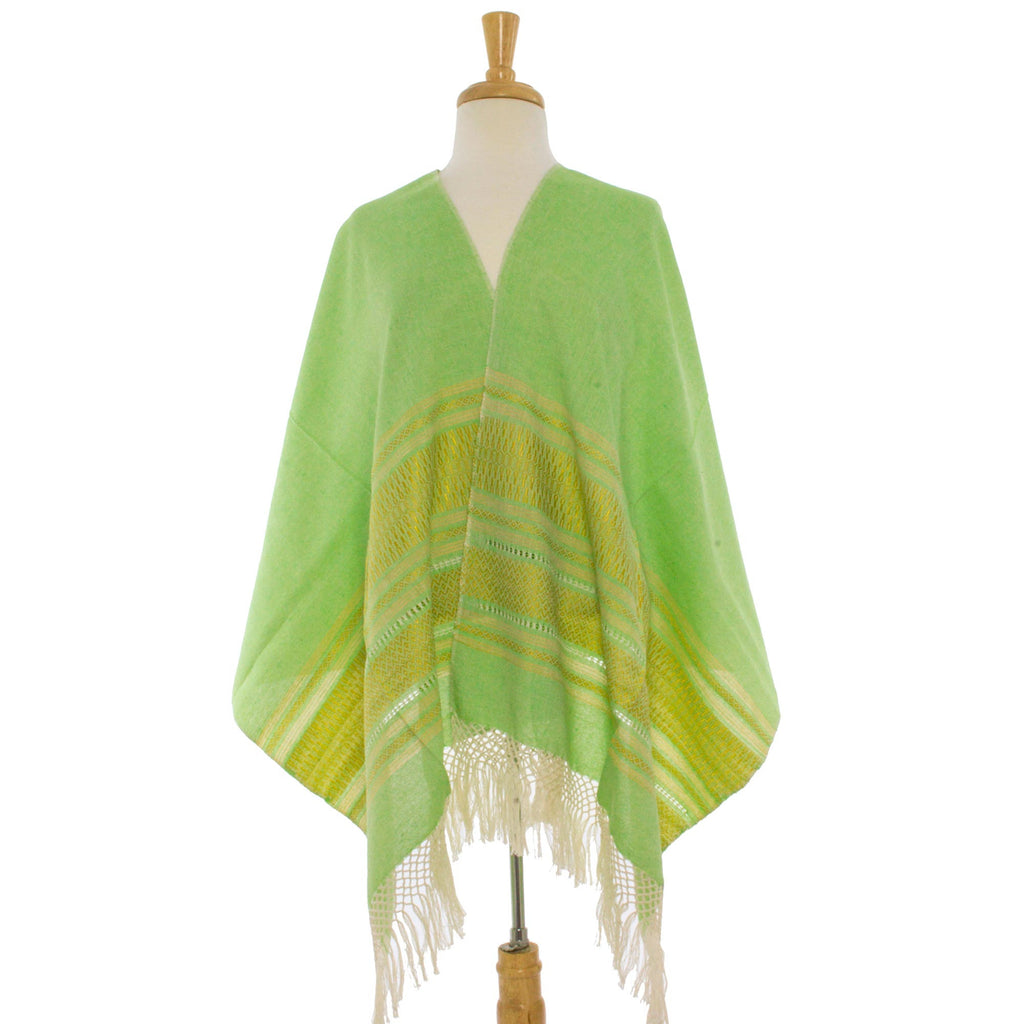 Zapotec Cotton Rebozo Shawl 'Golden Meadow'
