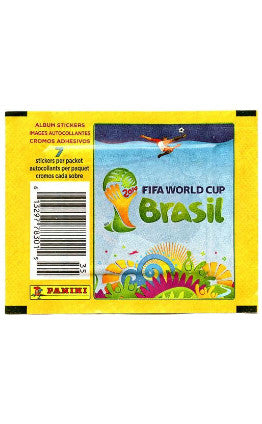 Brazil 2014 World Cup Stickers by Panini (Pack of 7 stickers)