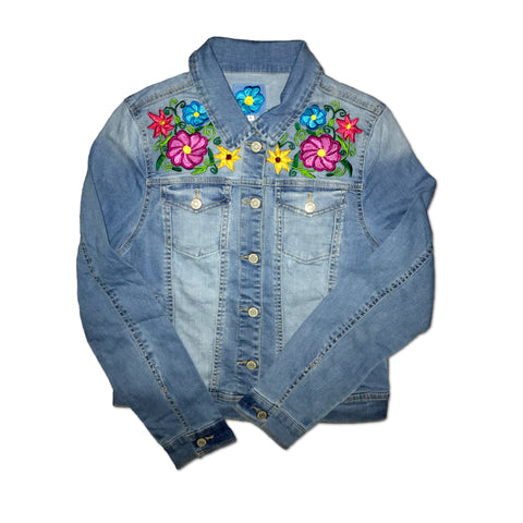 Kanxoc Floral Burst Denim Jacket