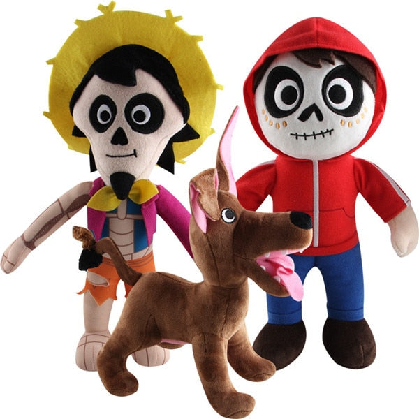 Miguel, Hector and Dog Plush Dolls from Coco