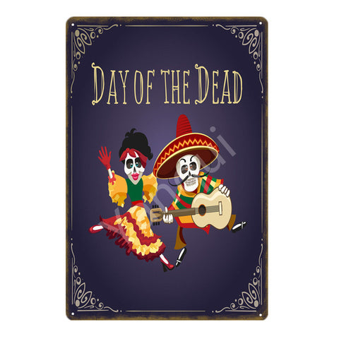 """Day of the Dead"" Vintage Metal Tin Sign"