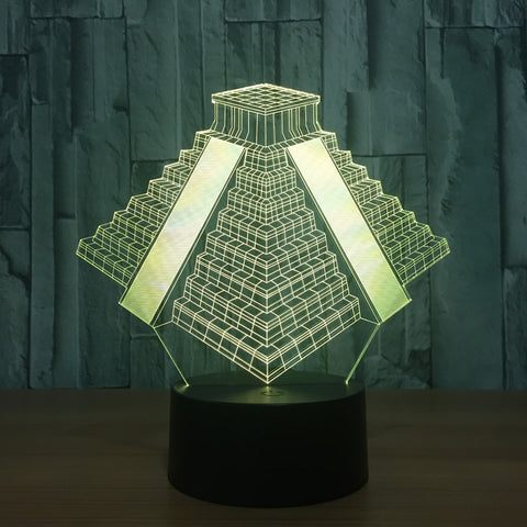 """Mexican Pyramid"" 3D LED Night Light - 7 Colors"