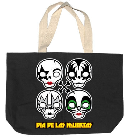 MUERTOS KISS TOTE BAG - BLACK
