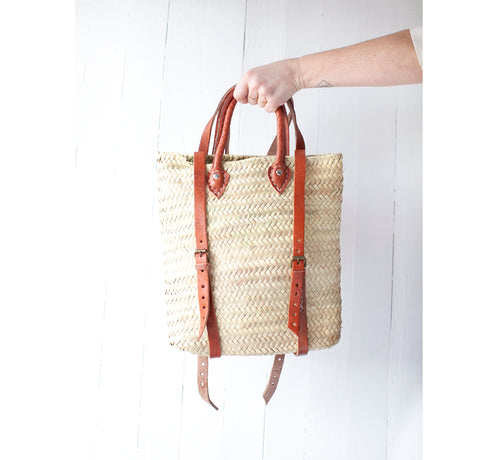 Small Straw Countryside Backpack