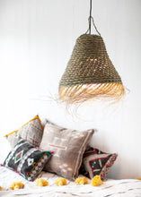 Load image into Gallery viewer, Plaited Doum Cone Pendant Lamp Shade