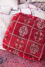 Load image into Gallery viewer, Shag Pouf // Moroccan Pouf