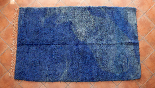 Faded Blue Vintage Beni Ourain //5ft 1in x 8ft 2in