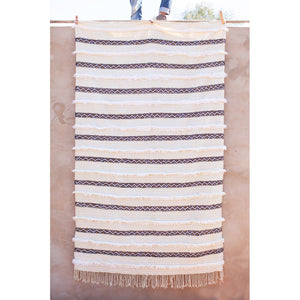 Handria, Moroccan Wedding Blanket 5ft 3in x 8ft 11in