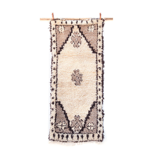 2ft 11in x 6ft 8in / Authentic Moroccan Sefrou Runner